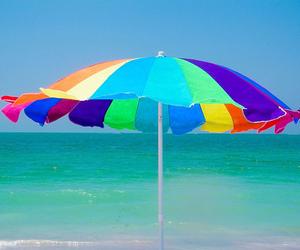 summer, parasole, and beach image