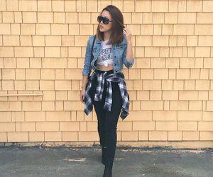 denim, fashion, and flannel image