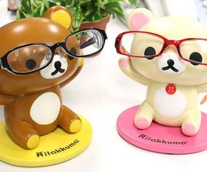 glasses, kawaii, and rilakkuma image