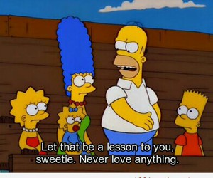 love, simpsons, and quotes image