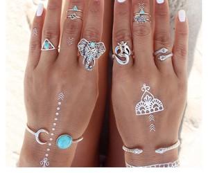boho, summer, and nails image