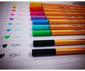 love, I Love You, and colors image