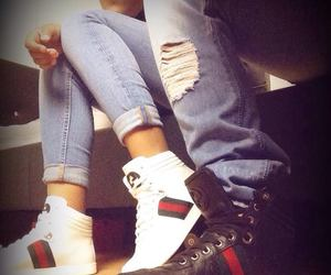 love, couple, and gucci image
