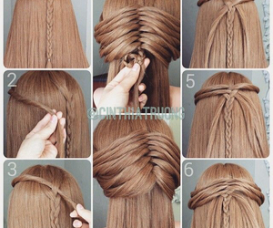 hair, diy, and braid image