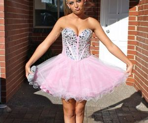cute homecoming dress, homecoming dress pink, and homecoming dresses image