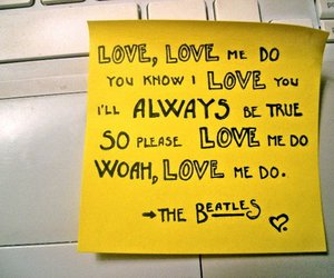 beatles, love me do, and the beatles image