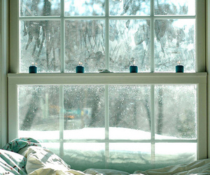 window, winter, and snow image