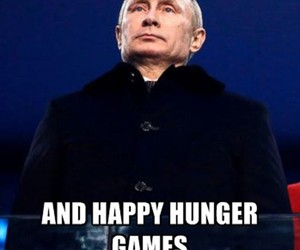 putin, olympics, and hunger games image