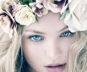flowers, model, and blonde image