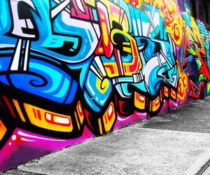 graffiti, art, and blue image