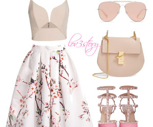 chloe, outfit, and romantic image