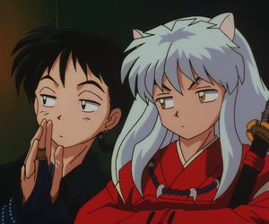 anime, inuyasha, and miroku image