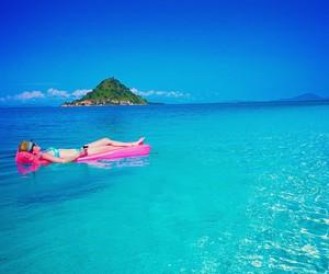 beach, mountain, and paradise image