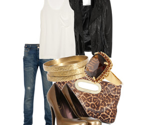 heels, jeans, and outfit image
