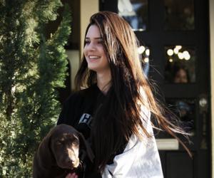 kendall jenner, girl, and dog image