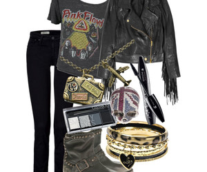 boots, jeans, and leather jacket image