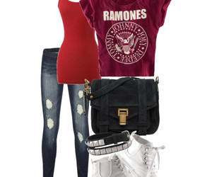 band, outfit, and ramones image