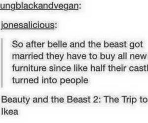 beauty and the beast, ikea, and tumblr image