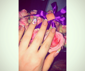 nails, easter, and flowers image