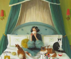 breakfast and cats image