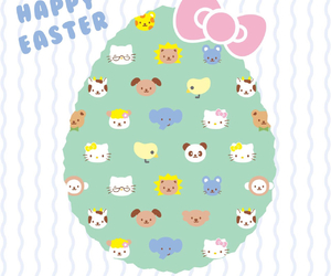 easter, happy easter, and hello kitty image