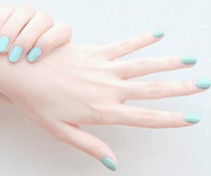 nails, blue, and pale image
