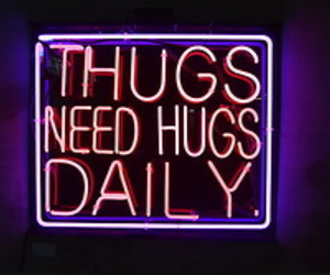 hugs, lights, and neon image