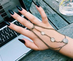 nails, black, and grunge image