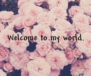 world, flowers, and welcome image
