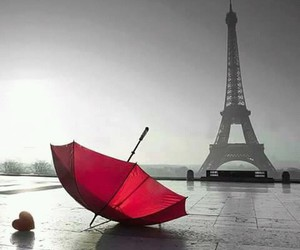 paris, umbrella, and eiffel tower image