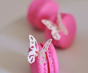 sweet, pink, and butterfly image