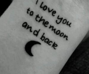 love, tattoo, and moon image