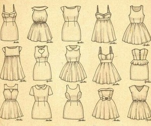 dress, drawing, and draw image