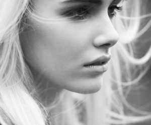 girl, blonde, and black and white image
