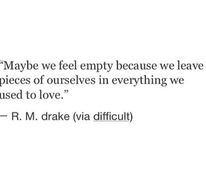 love, empty, and quote image