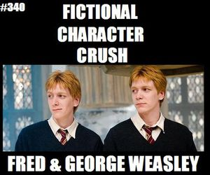books, crush, and harry potter image