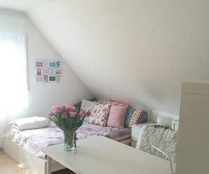 beautiful, pink, and bedroom image