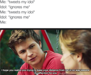 funny, idol, and the fault in our stars image