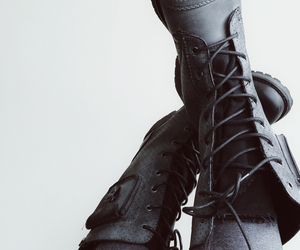 black, boots, and aesthetic image
