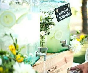 flower, lemonade, and summer image