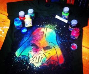 art, colourful, and darth vader image
