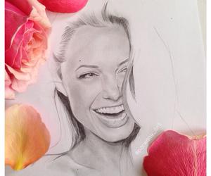 Angelina Jolie, art, and drawing image
