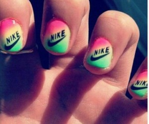 nails, nike, and yellow image