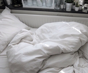 grunge, white, and bed image