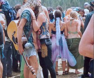 hippie, couple, and peace image