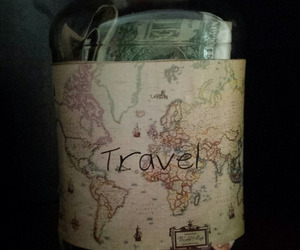 travel, money, and map image