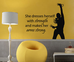 fitness, wall decals, and sport girl image