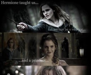 harry potter, princess, and hermione granger image