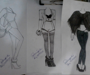 drawing, fashion, and sketches image