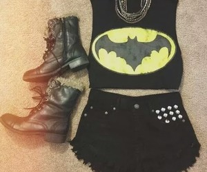 batman, fashion, and outfit image